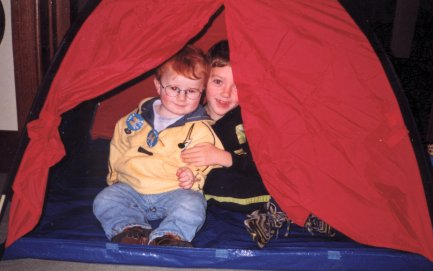 Liam and I camping it up!!
